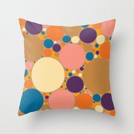 Circles Filled With Warm Summer Colours Throw Pillow