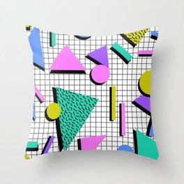 80s Retro Geometric Pattern 2 Throw Pillow