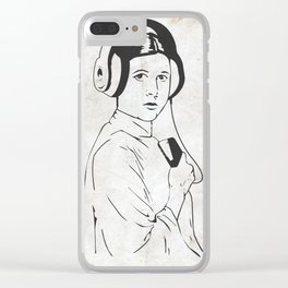 Modern Space Princess Clear iPhone Case