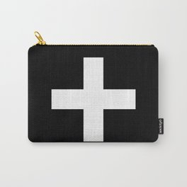 Plus Sign (White & Black) Carry-All Pouch