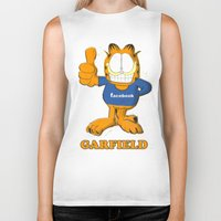 garfield Biker Tanks featuring GARFIELD by Dano77