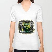 doom V-neck T-shirts featuring DOOM by D.Armendariz