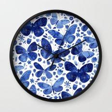Blue Butterflies Wall Clock
