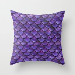 Reflection of the purple moon Throw Pillow