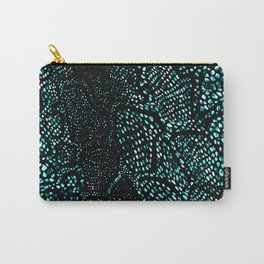Turquoise Snake Skin Carry-All Pouch