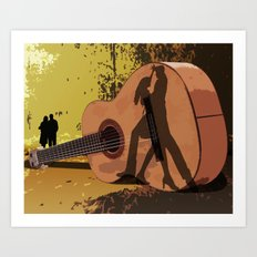 Memories Of A Guitar Art Print