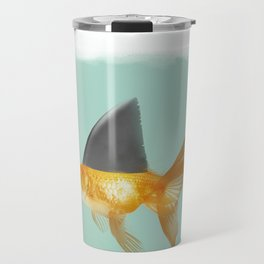Goldfish with a Shark Fin (under a cloud) Travel Mug