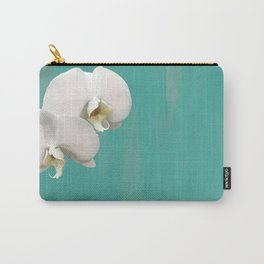 WHITE ORCHIDS - AQUA Carry-All Pouch