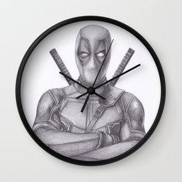 Dead pool Pencil drawing Wall Clock