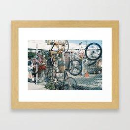 Bike parking Framed Art Print
