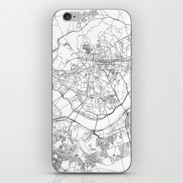 Seoul White Map iPhone Skin
