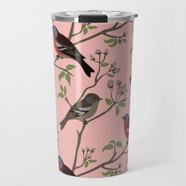 Peaceful harmony in the cherry tree Travel Mug