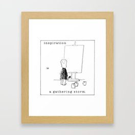 inspiration is a gathering storm Framed Art Print