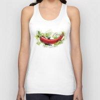 vietnam Tank Tops featuring Vietnam Chilli by Vietnam T-shirt Project