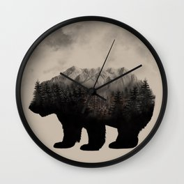 WHEN NATURE TALKS Wall Clock