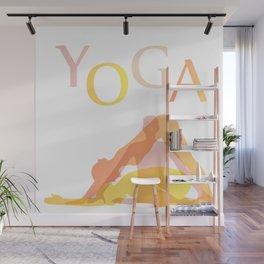 Yoga poses- people doing yoga silhouette- yoga lover Wall Mural