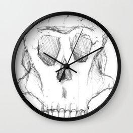 skull with horns Wall Clock