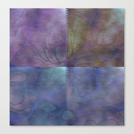 Ripple Patchwork Floral Abstract Canvas Print