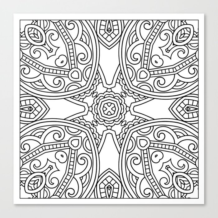 Doodle Patterns Coloring Canvas Home Decor Wall Art Canvas Print ...