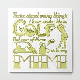 Golf Mimi Metal Print