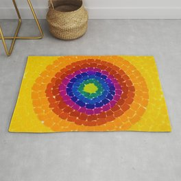 Classical African-American Masterpiece 'Resurrection' by Alma Thomas Rug