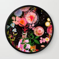carousel Wall Clocks featuring carousel by Danse de Lune