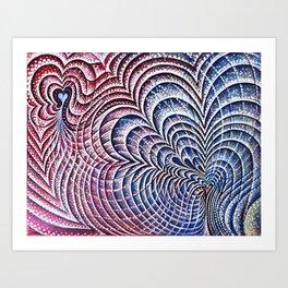 Cardiac Dissonance: Colliding magnetospheres Art Print