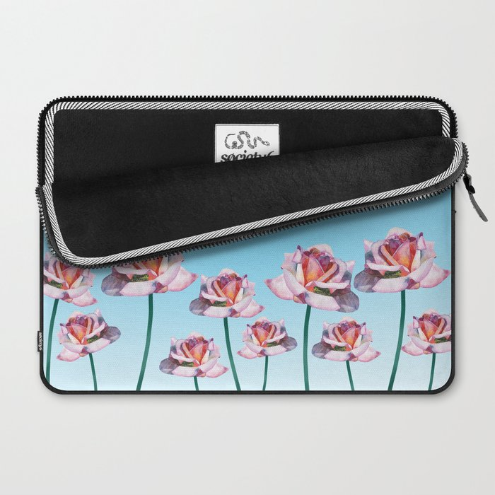 Roses and little frogs Laptop Sleeve