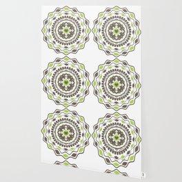 Heart Mandala – Green Wallpaper