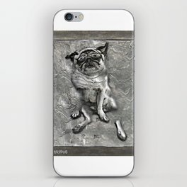 Pug in Carbonite iPhone Skin