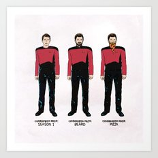 Stages of Riker Art Print