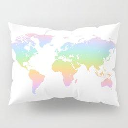WORLD rainbow map of the world Pillow Sham