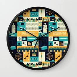 Divergent items Wall Clock