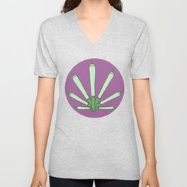 Smokers Only (purp) Unisex V-Neck