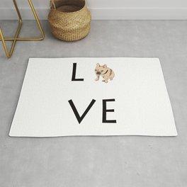 French Bulldog Love tan Rug