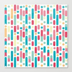 Geometric Rain Canvas Print