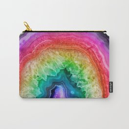 Rainbow Geode Carry-All Pouch