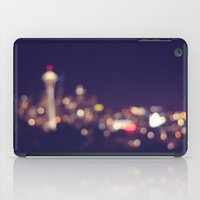 seattle iPad Cases featuring Seattle by Raquel Cuellar