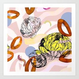 Yellow spring garden Art Print