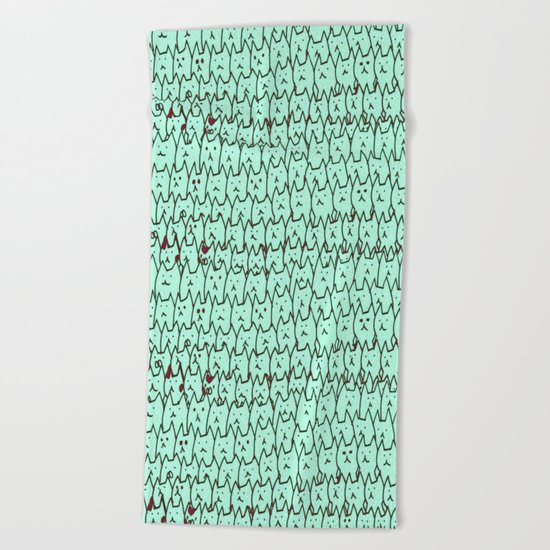 cat-107 Beach Towel