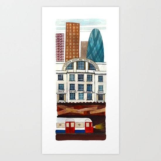 London Layers Art Print
