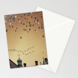 Innumerable wandering balloons Stationery Cards