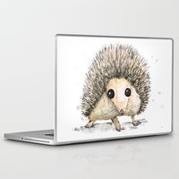 hedgehog Laptop & iPad Skins featuring Hedgehog by Bwiselizzy