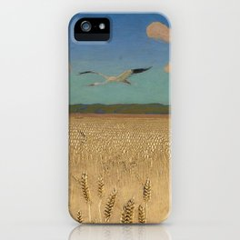 'Fields of Gold' landscape painting by Agnes Slott-Møller iPhone Case