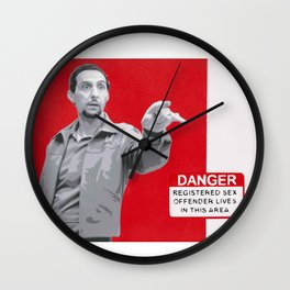 From 'The Big Lebowski', Jesus Quintana in spray paint on canvas. Wall Clock