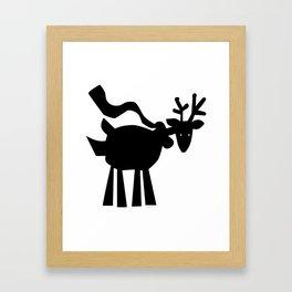 Reindeer with Scarf Framed Art Print