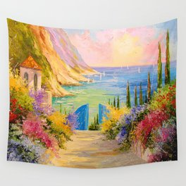 Road to the sea Wall Tapestry