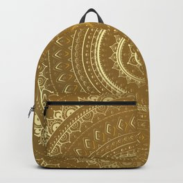 Gold Mandala. Indian decorative pattern. Backpack