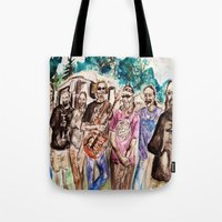 grateful dead Tote Bags featuring Dark Star Orchestra Grateful Dead Painting by Acorn