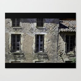 In France, by the window. Canvas Print